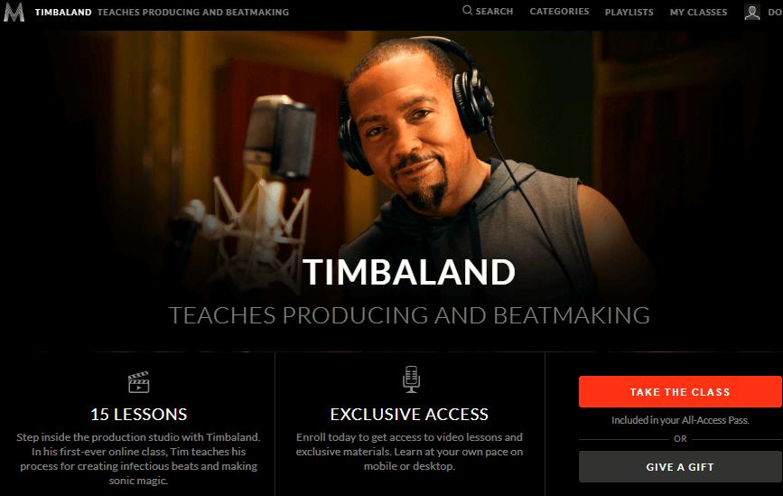 Timbaland Teaches Producing and Beatmaking-MASTER CLASS